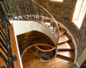 Stone Walls Around Winding Staircase image