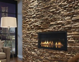 Stone Fireplace in a Condo image