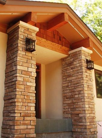Stone Columns Entry Way image