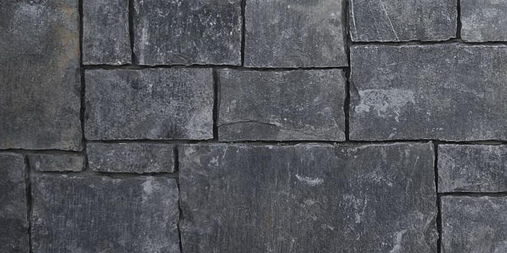 NATURAL STONE VENEER CASTLE BLACK RUNDLE TILE